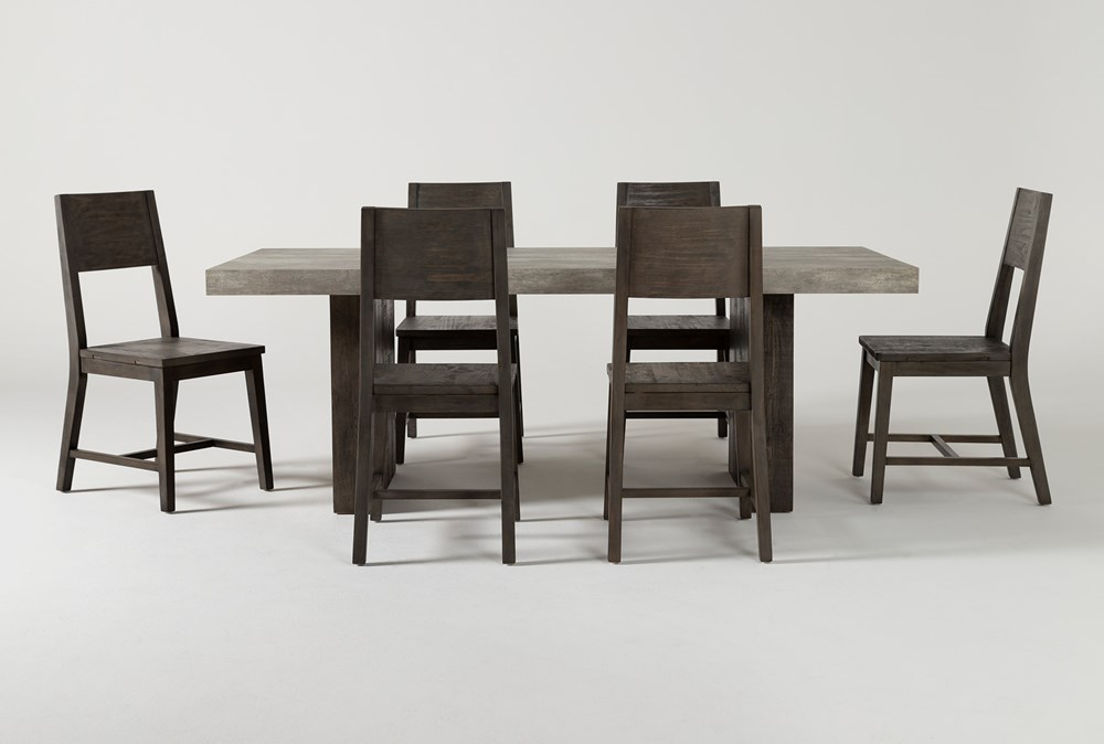 Titan 7 Piece 82 Inch Dining Set