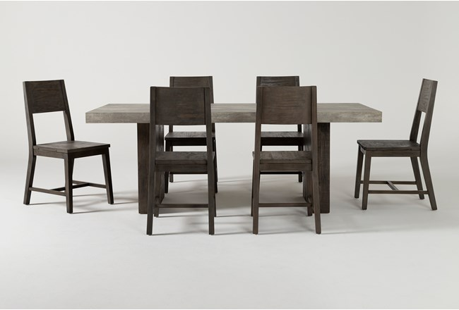 Titan 7 Piece 82 Inch Dining Set - 360