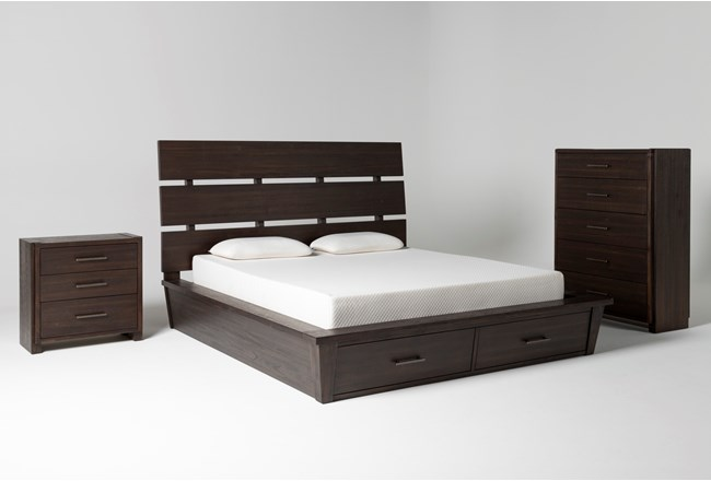 Teagan Queen Storage 3 Piece Bedroom Set - 360