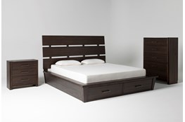 Teagan Eastern King Storage 3 Piece Bedroom Set