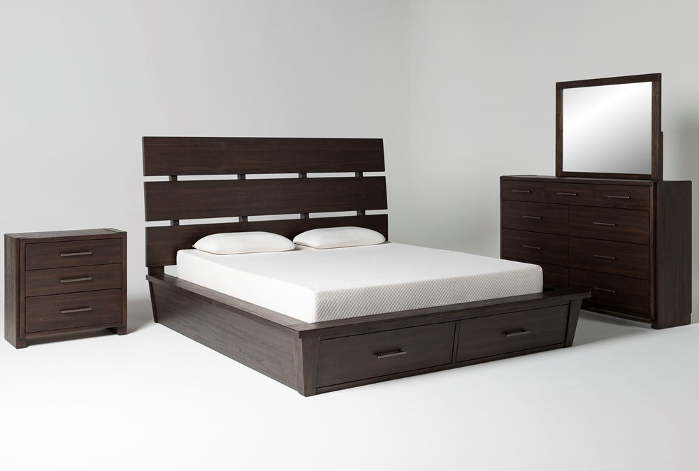 Teagan Eastern King Storage 4 Piece Bedroom Set