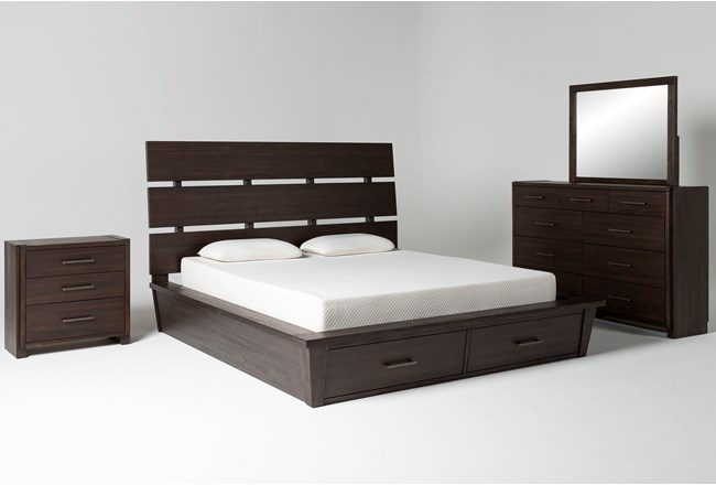 Teagan Eastern King Storage 4 Piece Bedroom Set - 360
