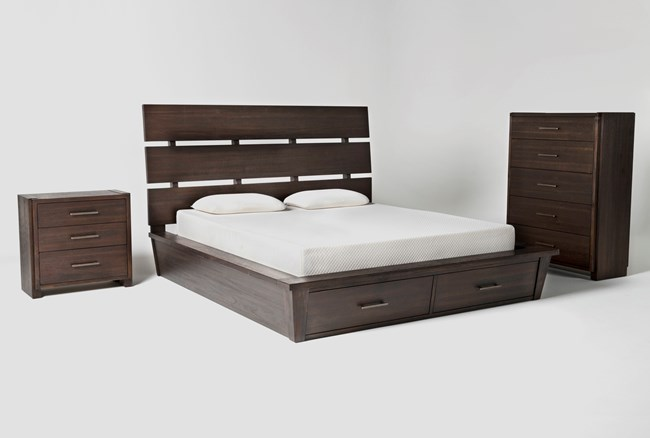 Teagan California King Storage 3 Piece Bedroom Set - 360