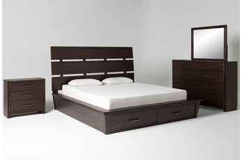 Teagan California King Storage 4 Piece Bedroom Set