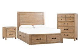 Conrad California King Storage 3 Piece Bedroom Set