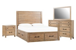 Conrad California King Storage 4 Piece Bedroom Set