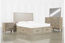 Conrad Grey Eastern King Storage 4 Piece Bedroom Set