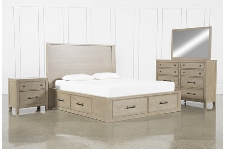 Conrad Grey Eastern King Storage 4 Piece Bedroom Set - Main
