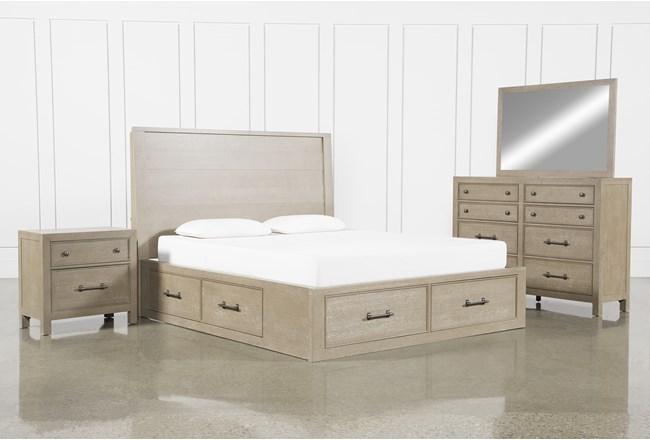Conrad Grey Eastern King Storage 4 Piece Bedroom Set - 360