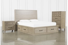 Conrad Grey Queen Storage 3 Piece Bedroom Set