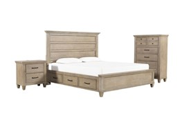 Meridian California King Storage 3 Piece Bedroom Set