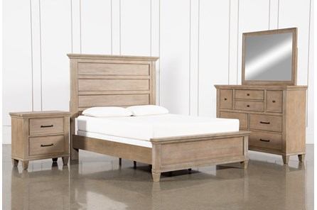 Meridian California King Panel 4 Piece Bedroom Set
