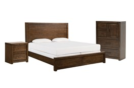 Riley Brownstone California King Panel 3 Piece Bedroom Set