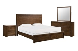 Riley Brownstone Eastern King Panel 4 Piece Bedroom Set