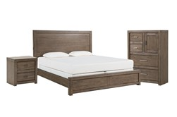 Riley Greystone Eastern King Panel 3 Piece Bedroom Set