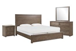 Riley Greystone Queen Panel 4 Piece Bedroom Set