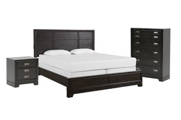 Kit-Flynn Eastern King Panel 3 Piece Bedroom Set