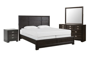 Flynn Eastern King Panel 4 Piece Bedroom Set
