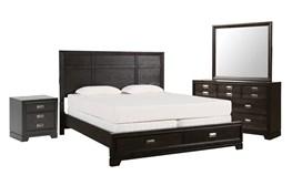 Flynn Eastern King Storage 4 Piece Bedroom Set