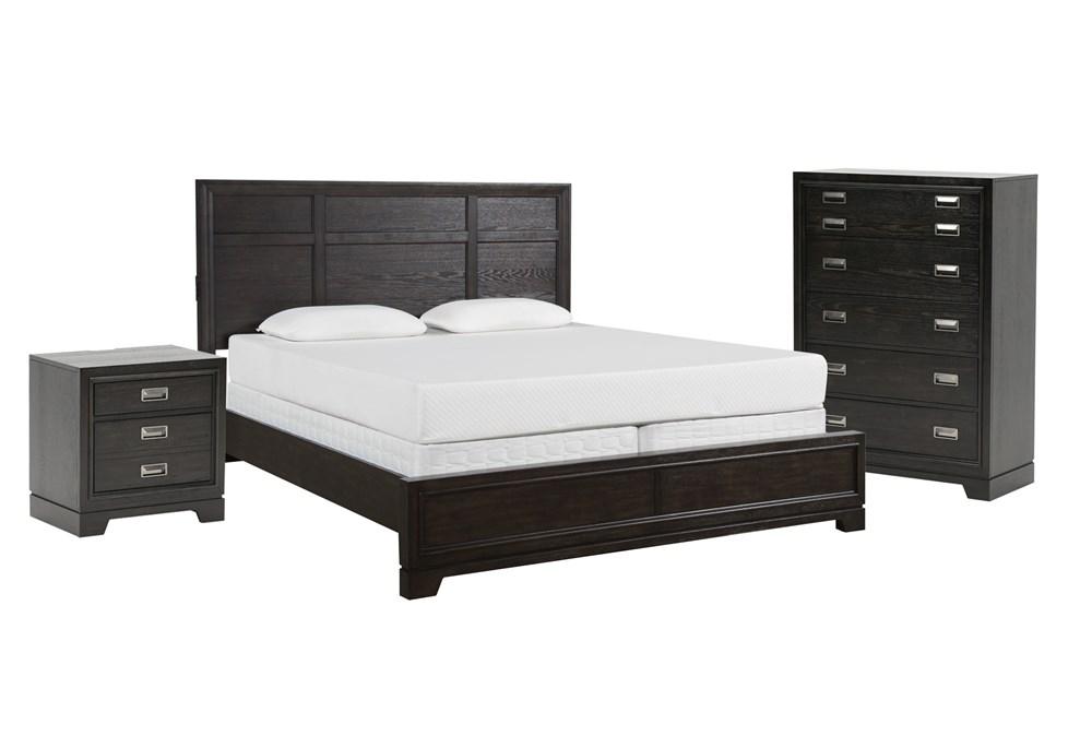 Flynn Queen Panel 3 Piece Bedroom Set