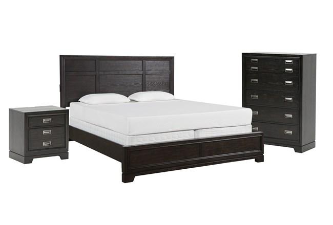 Kit-Flynn Queen Panel 3 Piece Bedroom Set - 360