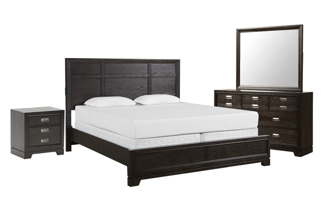 Kit-Flynn Queen Panel 4 Piece Bedroom Set - 360