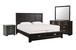 Flynn Queen Storage 4 Piece Bedroom Set