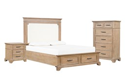 Whitney California King Storage 3 Piece Bedroom Set