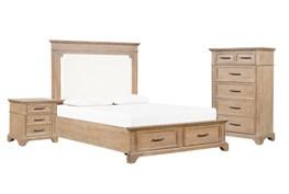 Whitney California King Storage 3 Piece Bedroom Set