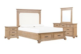 Whitney California King Storage 4 Piece Bedroom Set