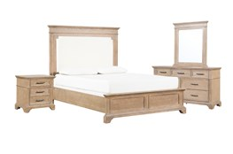 Whitney Eastern King Panel 4 Piece Bedroom Set