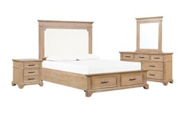 Whitney Queen Storage 4 Piece Bedroom Set