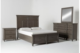 Augusta Queen Storage 4 Piece Bedroom Set