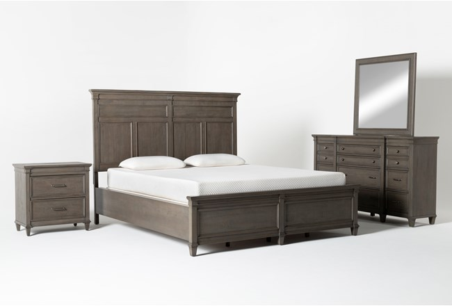 Augusta California King Panel 4 Piece Bedroom Set - 360