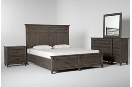 Augusta California King Storage 4 Piece Bedroom Set