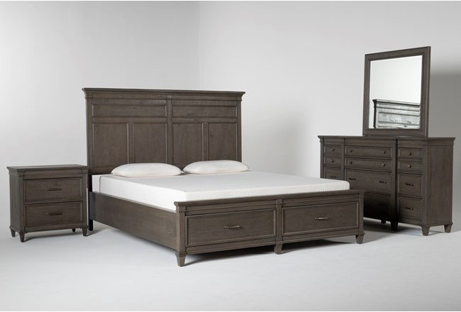 Augusta California King Storage 4 Piece Bedroom Set - 360