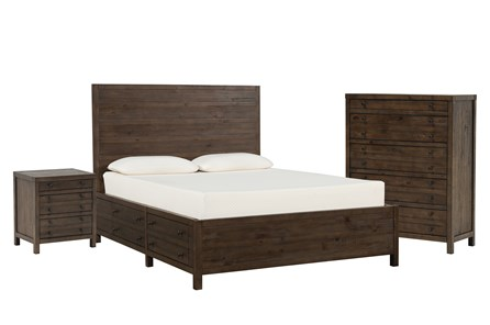 Rowan Queen Storage 3 Piece Bedroom Set