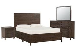 Rowan California King Storage 4 Piece Bedroom Set