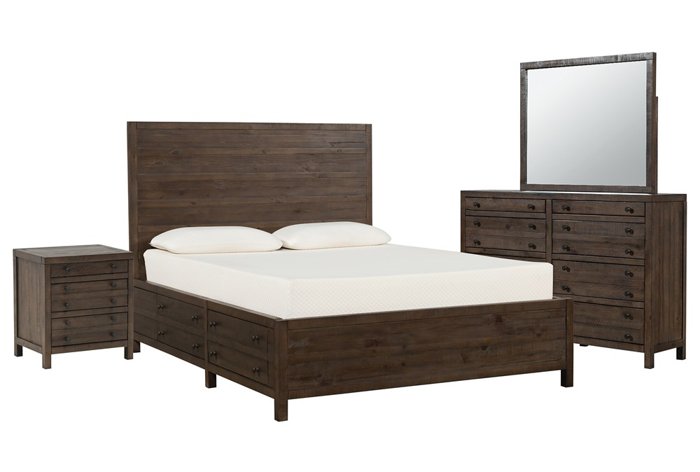 Rowan Eastern King Storage 4 Piece Bedroom Set
