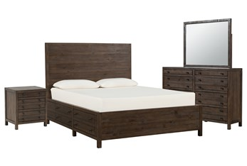 Rowan Eastern King Storage 4 Piece Bedroom Set