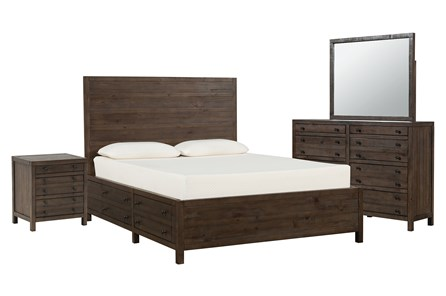 Rowan Eastern King Storage 4 Piece Bedroom Set - Main