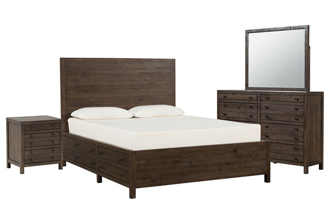 Rowan Eastern King Storage 4 Piece Bedroom Set - 360