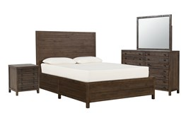 Rowan Eastern King Panel 4 Piece Bedroom Set