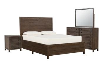 Rowan Eastern King Panel 4 Piece Bedroom Set