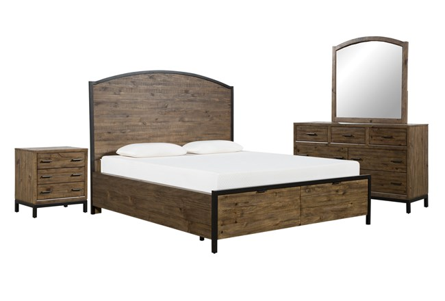 Foundry Eastern King Storage 4 Piece Bedroom Set - 360