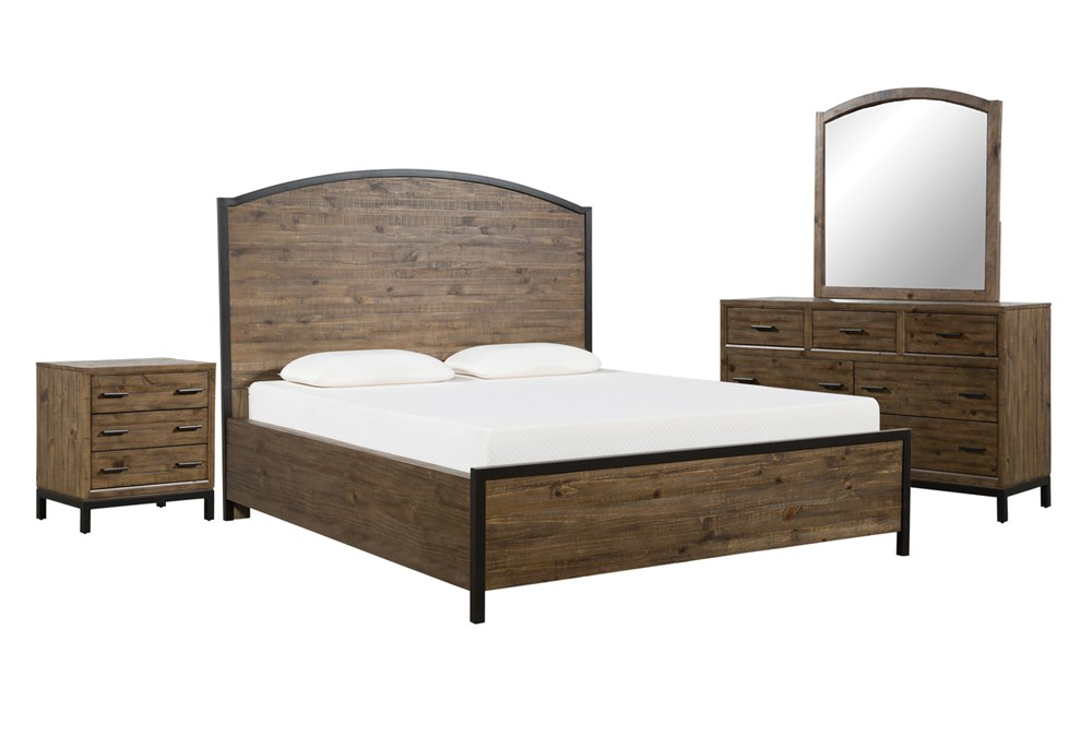 Foundry Eastern King Panel 4 Piece Bedroom Set