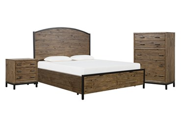 Foundry California King Storage 3 Piece Bedroom Set