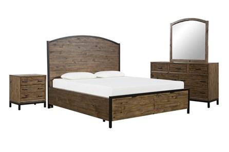 Foundry California King Storage 4 Piece Bedroom Set