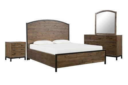 Foundry California King Panel 4 Piece Bedroom Set