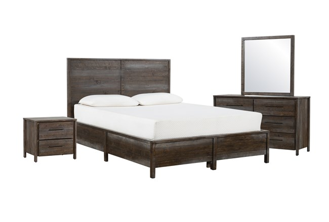 Colton Eastern King Panel 4 Piece Bedroom Set - 360